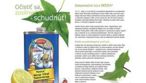 NEERA detoxikačná kúra – informačný leták