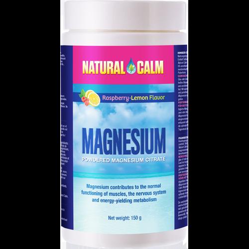 Magnézium Natural Calm – citrát horčíka s príchuťou malina/citrón 150g